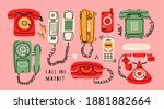 set of various classic and... | Shutterstock .eps vector #1881882664