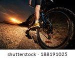 Cyclist Riding Mountain Bike O...
