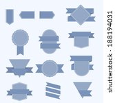 set of banners with ribbons.  | Shutterstock .eps vector #188194031