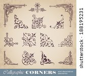 calligraphic corners and... | Shutterstock .eps vector #188195231