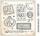 vintage frames and design... | Shutterstock .eps vector #188195585