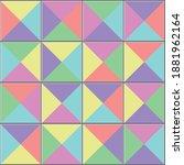 Triangular Colorful Tiles Floor....