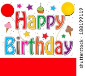 happy birthday   Shutterstock . vector #188199119