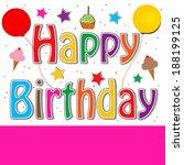 happy birthday | Shutterstock . vector #188199125