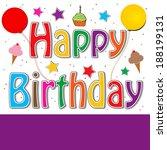 happy birthday   Shutterstock . vector #188199131