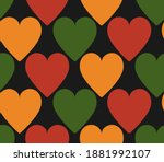 pattern with hearts in... | Shutterstock .eps vector #1881992107