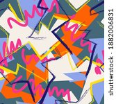 seamless abstract urban pattern ... | Shutterstock .eps vector #1882006831