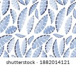 watercolor pattern of tropical... | Shutterstock . vector #1882014121