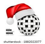 sphere from a crossword grid in ... | Shutterstock .eps vector #1882022077