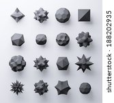 3d black abstract geometric...   Shutterstock . vector #188202935