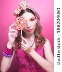 portrait of charming girl in... | Shutterstock . vector #188204081