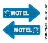 arrow signpost for the motel... | Shutterstock .eps vector #1882048504