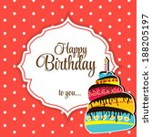 Happy Birthday Card Vector...