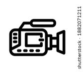 video icon or logo isolated...