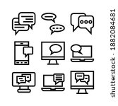 chatting icon or logo isolated...   Shutterstock .eps vector #1882084681