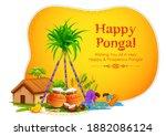 illustration of happy pongal... | Shutterstock .eps vector #1882086124