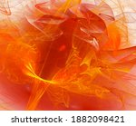 Abstract Orange Flower With...