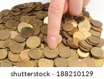 hand of woman showing coin on... | Shutterstock . vector #188210129