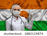 Young Woman Doctor In Medical...