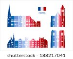 Vector graphic symbols of France - stock vector