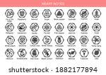 vector set icons aromas heart... | Shutterstock .eps vector #1882177894