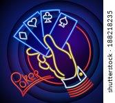 poker illustration  hand...   Shutterstock .eps vector #188218235