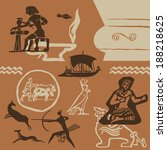 elements of ancient fine arts...   Shutterstock .eps vector #188218625
