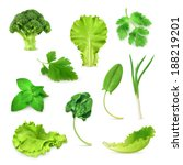 green vegetables and herbs set  ... | Shutterstock .eps vector #188219201
