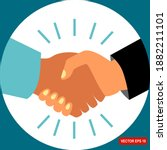 shake hands with business... | Shutterstock .eps vector #1882211101