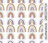 rainbow seamless pattern....   Shutterstock .eps vector #1882234714
