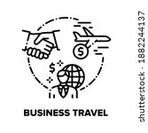business travel vector icon... | Shutterstock .eps vector #1882244137