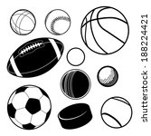 sports ball collection | Shutterstock . vector #188224421