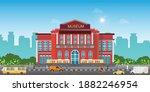exterior of museum building...   Shutterstock .eps vector #1882246954