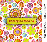 spring is in the air cheer up ...   Shutterstock .eps vector #188227139