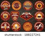 vector set of customizable food ... | Shutterstock .eps vector #188227241