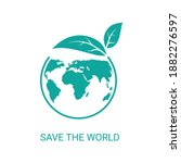 save the world icon  saving... | Shutterstock .eps vector #1882276597