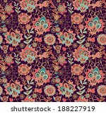 seamless decorative floral... | Shutterstock .eps vector #188227919