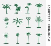 palm tree collection. isolated... | Shutterstock . vector #188228579