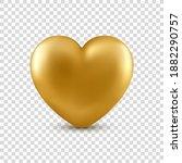 vector realistic golden heart... | Shutterstock .eps vector #1882290757