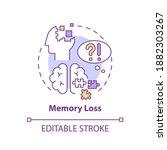 Memory Loss Concept Icon....