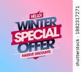 winter special offer  shop now  ...   Shutterstock . vector #1882317271