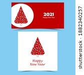 set of happy new year banners.... | Shutterstock .eps vector #1882340257