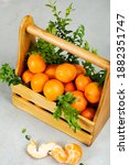 Ripe Delicious Tangerines With...