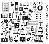 medical icons set  isolated on... | Shutterstock .eps vector #188239697