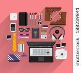 item lifestyle for digital... | Shutterstock .eps vector #188239841
