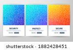 security flyer concepts. vector ... | Shutterstock .eps vector #1882428451