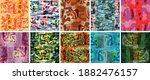 vector seamless pattern set.... | Shutterstock .eps vector #1882476157