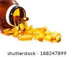 vitamin d bottle with spilled... | Shutterstock . vector #188247899