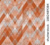 Seamless Textured Gray  Orange...