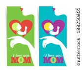happy mother's day. banners of... | Shutterstock .eps vector #188250605